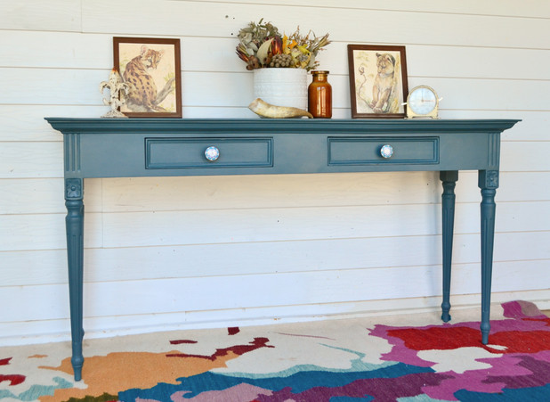 Custom Homestead Blue Large Hall Table