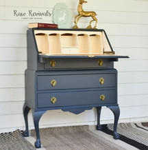 Antique Navy Blue Bureau Desk