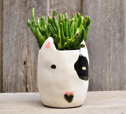 White Modern 'Rufus' Dog Indoor Pot Planter
