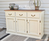 Custom Chalk Paint White Buffet