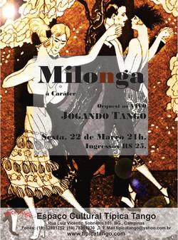 MILONGA TIPICA TANGO__Orquestra Ao VIVO _Jogando Tango___Sexta 22 de março 21h