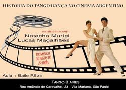 SEMINÁRIO HISTÓRIA DO TANGO DANÇA NO CINEMA - Um domingo diferente_ Cinema + Baile com_ Natacha Muri