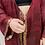 Thumbnail: Maxi Joy Robe - Gold & Merlot