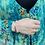 Thumbnail: Midi Joy Robe - Aqua Bouquet