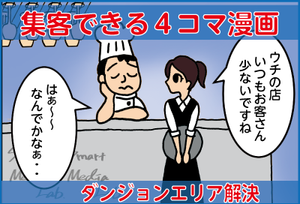 MEO対策で集客へ 4コマ漫画