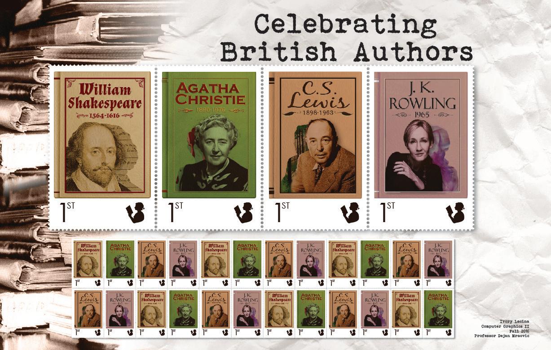 Celebrating British Authors Stamps
