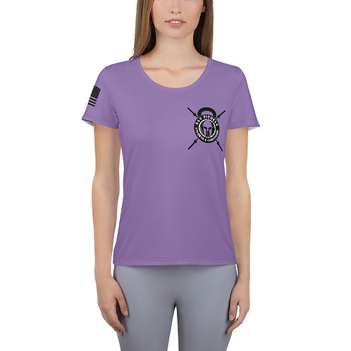 Women's Athletic T-shirt lavender Logo 2