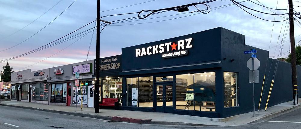RackStarz Los Angeles store front, in Manhattan Beach, California
