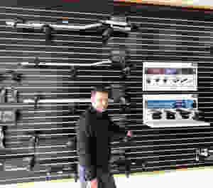 John Bullion at the new RackStarz Vehicle Rack & Hitch in Manhattan Beach, California with all new Thule bike racks