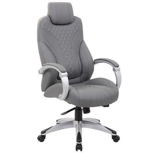 Gray Hinged Arm Executive Chair