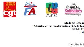 Lettre à la ministre de la fonction publique