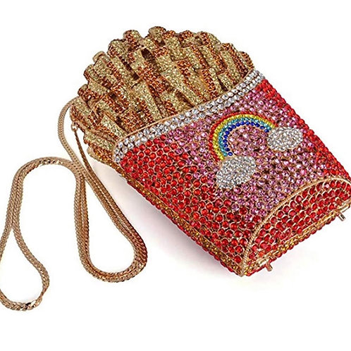Bling French Fry Clutch