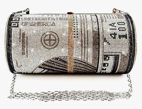 Green Folded Money Bling Purse