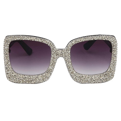 Silver Oversized Glitter Shades