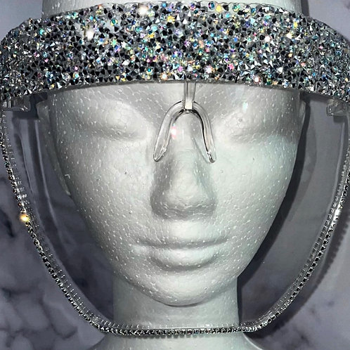 Hand Made Bling Face Shield