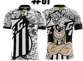 camisetas, uniformes de futebol varzea santos peixe neymar