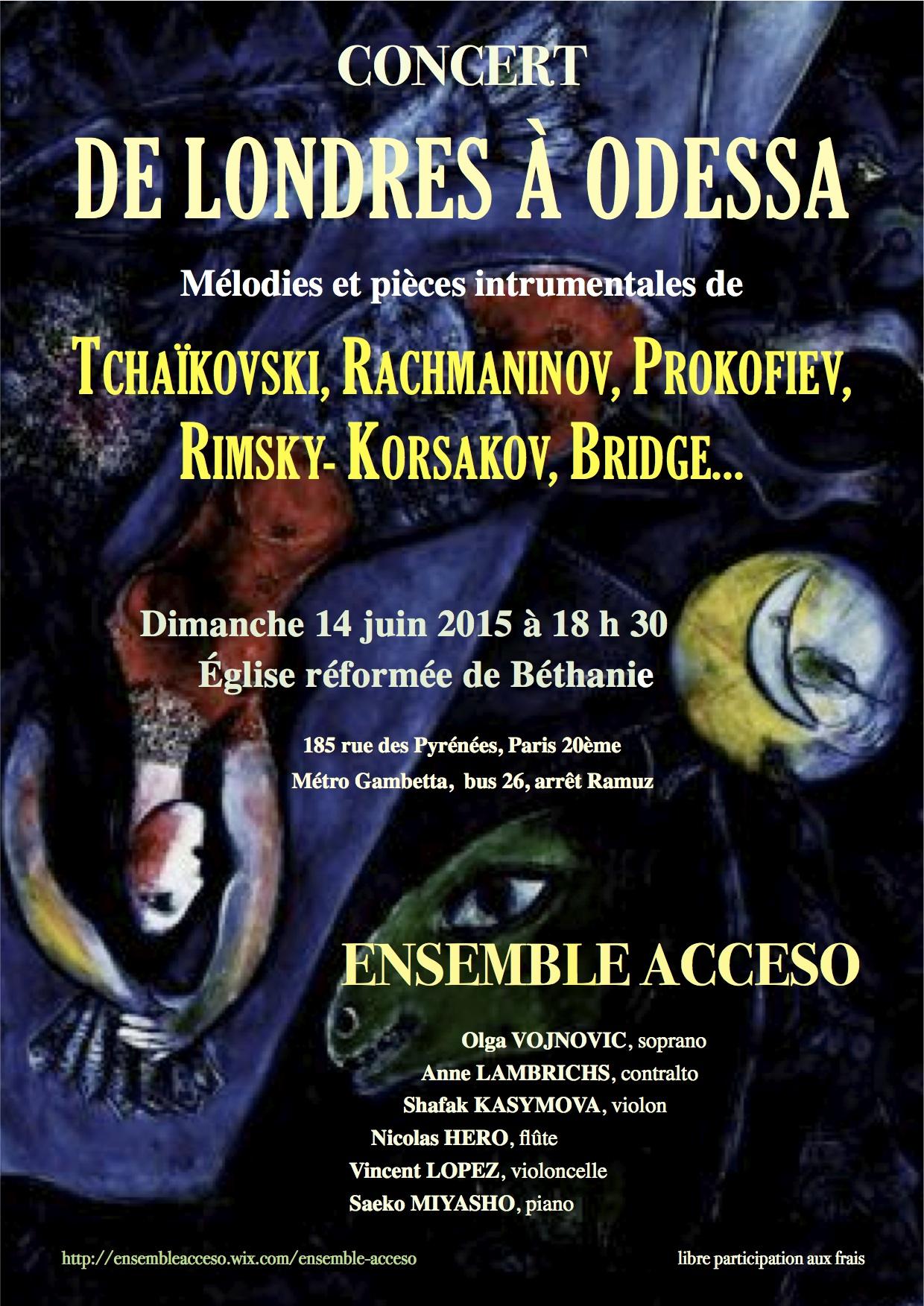 Concert Paris 14 juin 2015