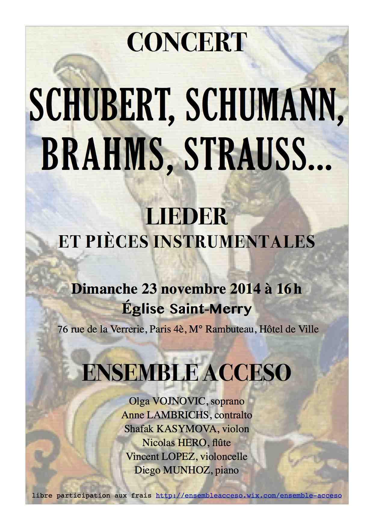 Concert Paris 23 novembre 2014