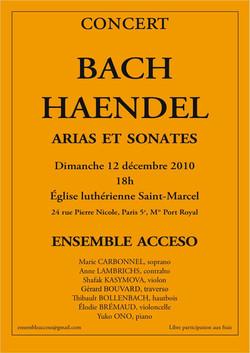 Concert Paris 12 décembre 2010
