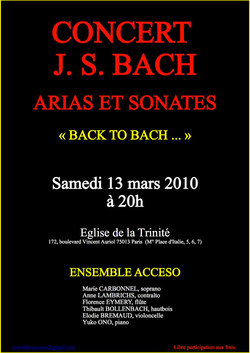 Concert Paris 13 mars 2010