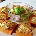 Pork Toast with thai spices deep fried *