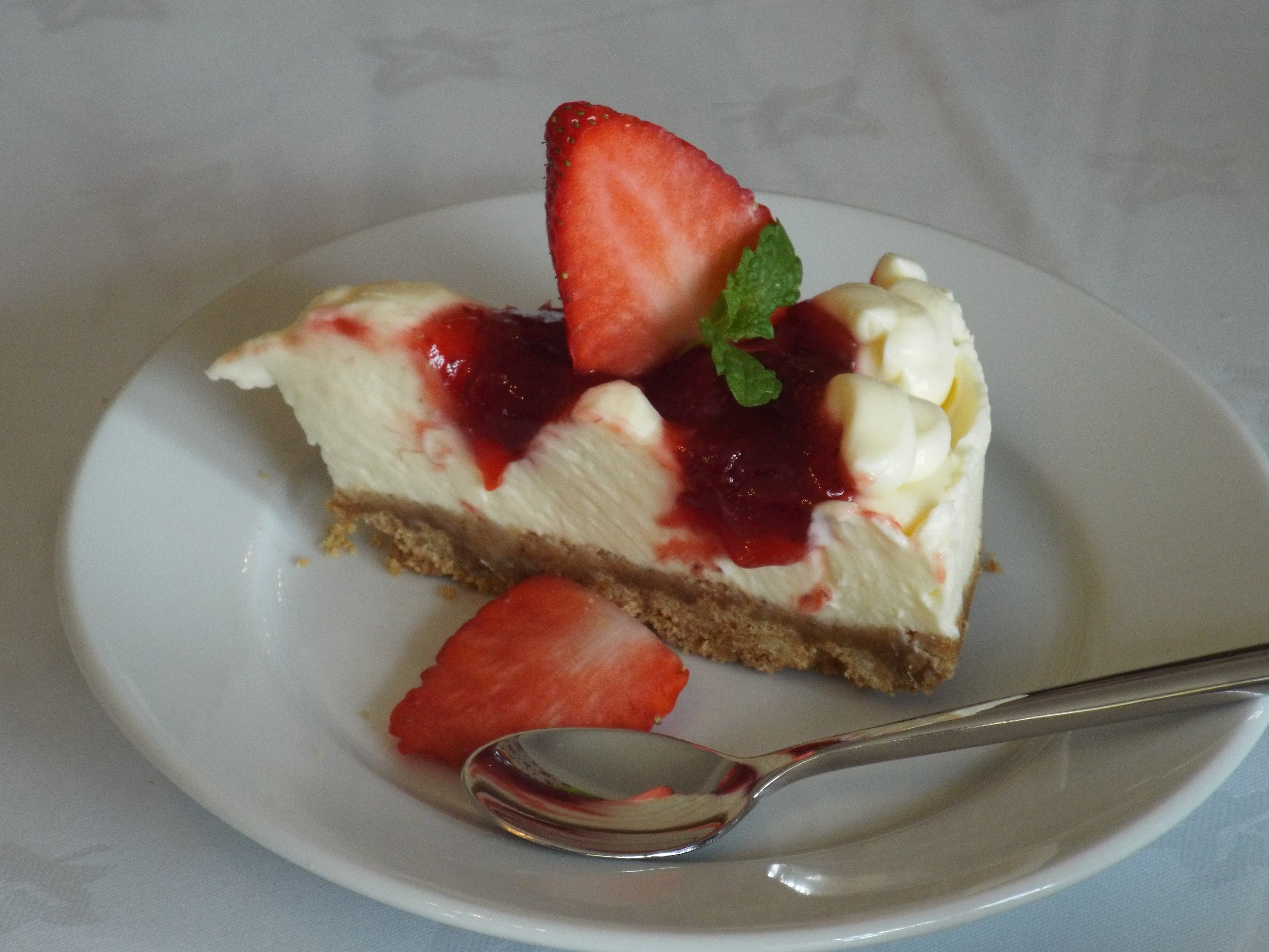 Home made strawberry cheescake
