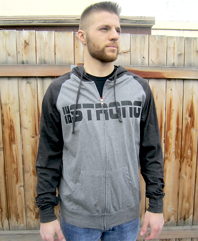 Be Strong And Courageous Men's Zip Up Hoodie