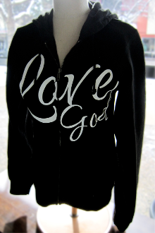 Love God Love Others Women's Hoodie- Black