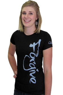 Forgive Women's Christian Tee- Black