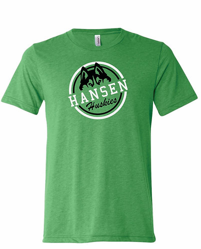 Youth Hansen Huskies Green Seal Tee