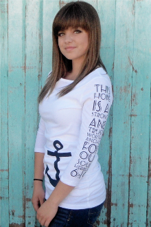 Anchor For Our Souls Women's 3/4 Sleeve Tee