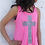 Thumbnail: Power Of God Women's Flowy Tank- Neon Pink & Charcoal