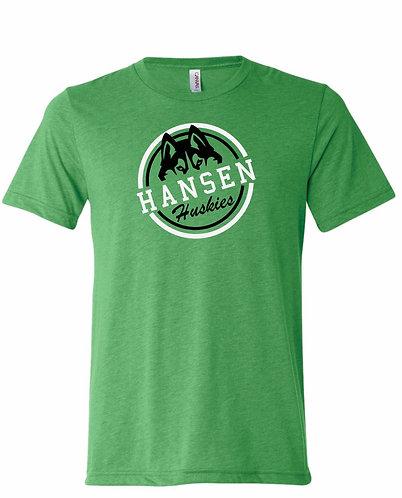 Unisex Adult Hansen Huskies Green Seal Tee