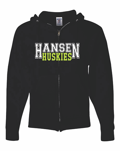 Adult Unisex Hansen Black Zip Up Hoodie