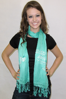 All Things Work Together For Good Scarf- Mint
