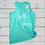 Thumbnail: Faith Over Fear Girls Flowy Tank Top-Teal