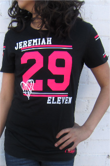 JEREMIAH 29:11 Women's Athletic Tee- Black
