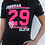 Thumbnail: JEREMIAH 29:11 Women's Athletic Tee- Black