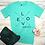 Thumbnail: Love Never Fails Women's Christian T shirt- Heather Sea Green