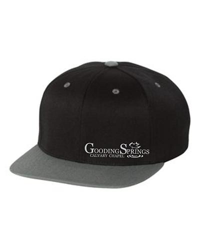 Black/Gray Flat Bill Hat