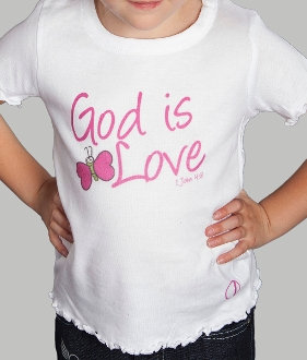God Is Love Toddler Girl's Tee