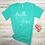 Thumbnail: Faith Over Fear Women's Christian T shirt- Heather Sea Green