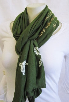 The Lord Bless You And Keep You Infinity Scarf- Olive