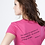 Thumbnail: Faith V-Neck Christian T Shirt- Fuchsia