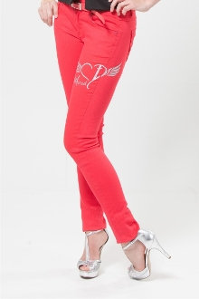 Called To Live A Holy Life Women's Skinny Jeans- Coral