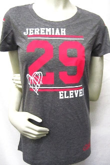 JEREMIAH 29:11 Women's Athletic Tee- Gray