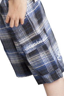 Pray Without Ceasing Cargo Shorts- Blue/Gray