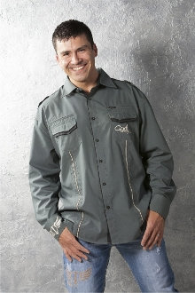 Speck Of Sawdust Button-Down- Army