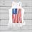 Thumbnail: God Bless America Flowy White Tank Top