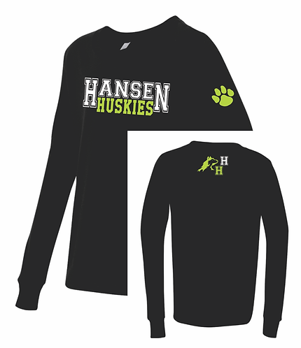 Youth Hansen Black Long Sleeve T-shirt